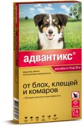 Адвантикс 250 Капли от блох, клещей и комаров для собак от 10 до 25 кг (4 шт./уп.)