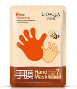 Медовая маска-перчатки «BIOAQUA» для рук.(8948)