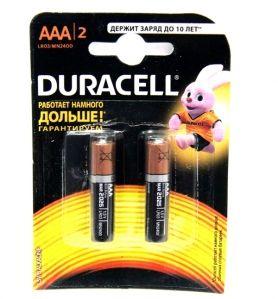 Батарейка алкалиновая DURACELL LR03 BL2 (2x20=40) ALKALINE (ААА)