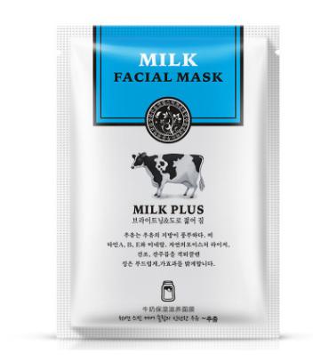 Тканевая маска на лицо молочная«BIOAQUA» - питание, увлажнение.(7533)