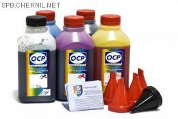 Чернила OCP для принтера и МФУ Canon MG5740, MG6840, TS5040, TS6040 (BKP35, BK153, C153, M153, Y153) Safe Set, комплект 500 гр. x 5
