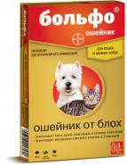 Больфо Ошейник от блох и клещей для мелких собак и кошек (35 см)