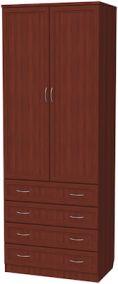 У-103. Шкаф для белья со штангой и ящиками 2216x820x490 мм  ВxШxГ