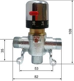 Автоматический смеситель с термо регулировкой для подготовки теплой воды HD (KR 532 12D)