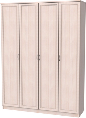 У-109. Шкаф для белья со штангой и полками 2216x1640x490 мм  ВxШxГ