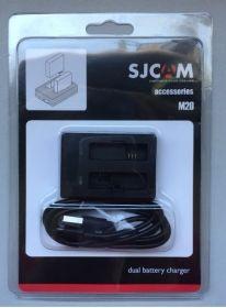 Зарядное устройство на 2 батареи для камер SJCAM М20