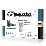 Инспектор Тотал К Капли от внешних и внутренних паразитов для кошек 4-8 кг