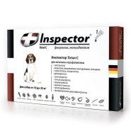 Инспектор Тотал С Капли от внешних и внутренних паразитов для собак от 10 до 25 кг