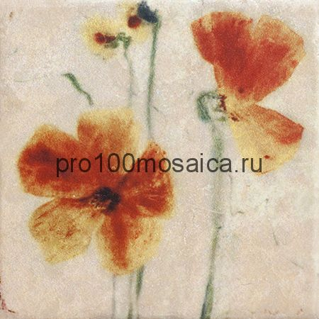 151264-12-5812-1 Cir Marble Style Inserto Style S/3 (Два Цветка) 10х10 см (CIR)