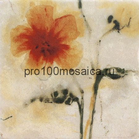 151264-12-5812-3 Cir Marble Style Inserto Style S/3 (Цветок Развернут Влево) 10х10 см (CIR)