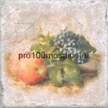 151264-12-5912-3 Cir Marble Style Inserto Tradition S/3 (Яблоко+Виноград) 10х10 см (CIR)