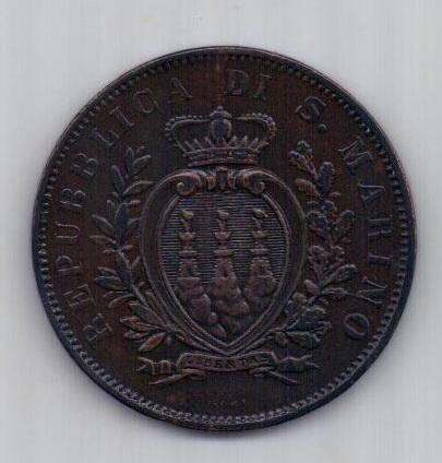 10 чентезимо 1894 г. XF. Сан - Марино
