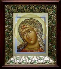 Ангел Златые власы (21х24), киот со стразами