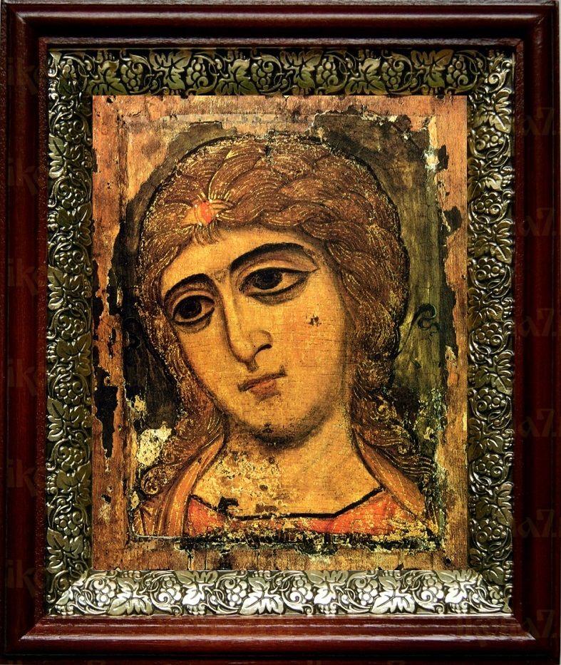 Ангел Златые власы (19х22), темный киот