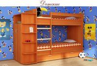 """Кровать 2х-ярусная """"Соня"""" с ящиками. Шкаф с полочками."""
