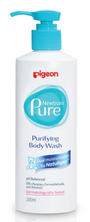 "Pigeon Нежный гель для купания ""Newborn Pure Purifying Body Wash"" 0+ мес, 200 мл"