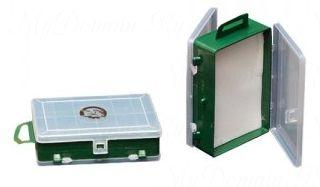 Коробка ТРИ КИТА ТК-14 двойная для блесен и морм. с изолоном 11+1 отделений