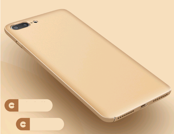 Поликарбонатный чехол-накладка для iPhone 7/8 Thin Fit Series (Золотой)