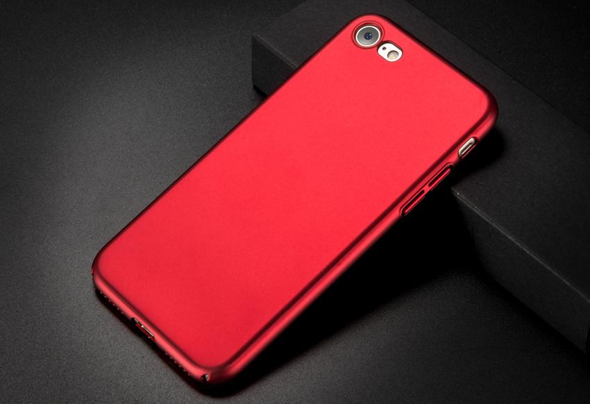 Поликарбонатный чехол-накладка для iPhone 7/8 Thin Fit Series (Красный)