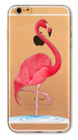 Чехол для iPhone 6/6s (Фламинго)