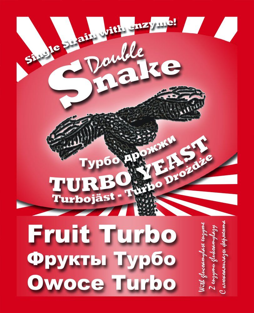 Турбо дрожжи DoubleSnake Fruit Turbo, 50 гр