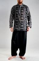 Чёрные мужские индийские рубашки, хлопок, интернет-магазин Санкт-Петербург