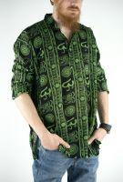 Чёрные мужские индийские рубашки, хлопок, купить в СПб
