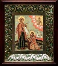 Явление Богородицы Андрею Боголюбскому (21х24), киот со стразами
