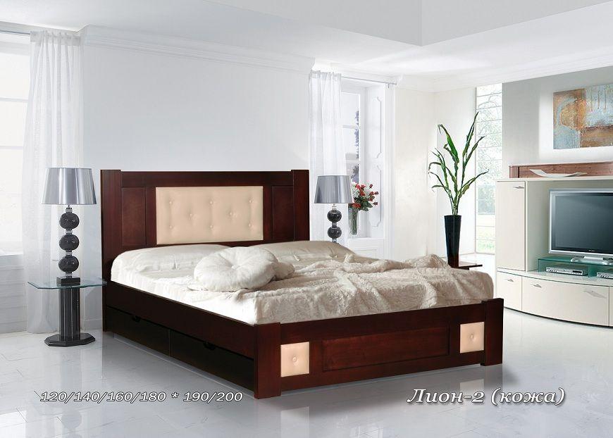 Кровать Лион-2 (кожа) | Альянс
