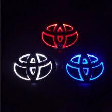 Эмблема Тойота с LED подсветкой, 5D стиль, цвет на выбор