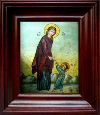 Первые шаги Иисуса Христа (21х24), простой киот