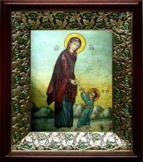 Первые шаги Иисуса Христа (21х24), киот со стразами