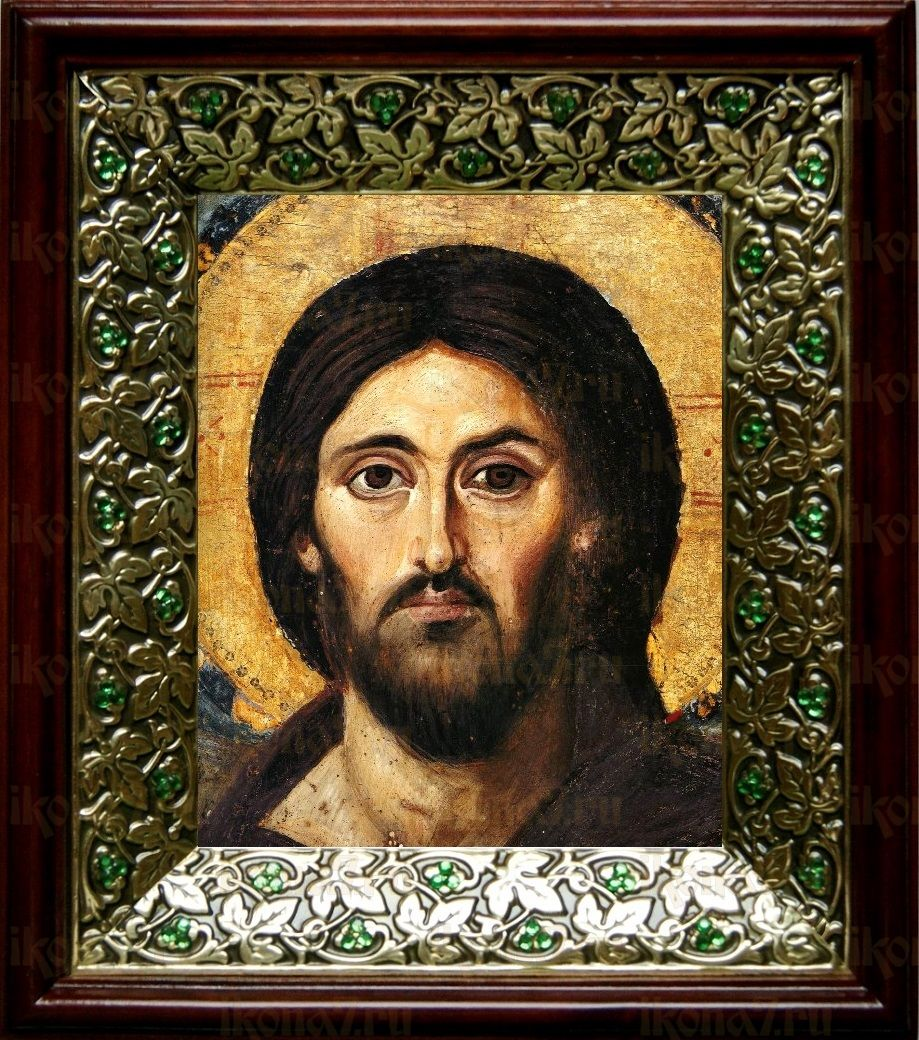 Христос Пантократор Синайский (21х24), киот со стразами