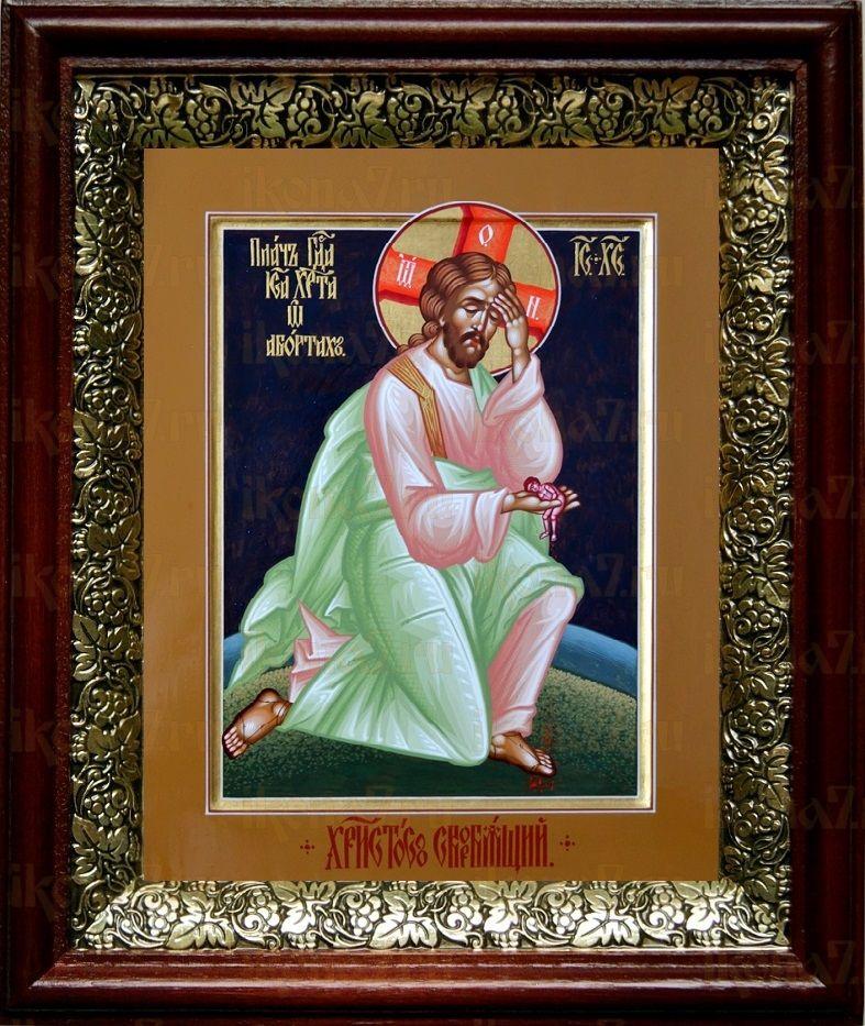 Плач Иисуса Христа об убиенных младенцах (19х22), темный киот