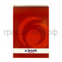 Блокнот А5 50л.кл.спир. x.book Herlitz 0110536