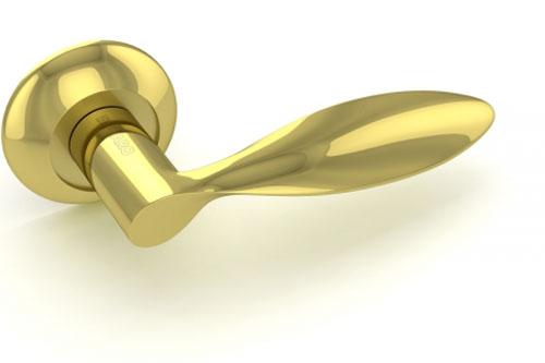 Ручка дверная Viola RM GP-SG Золото-матовое золото
