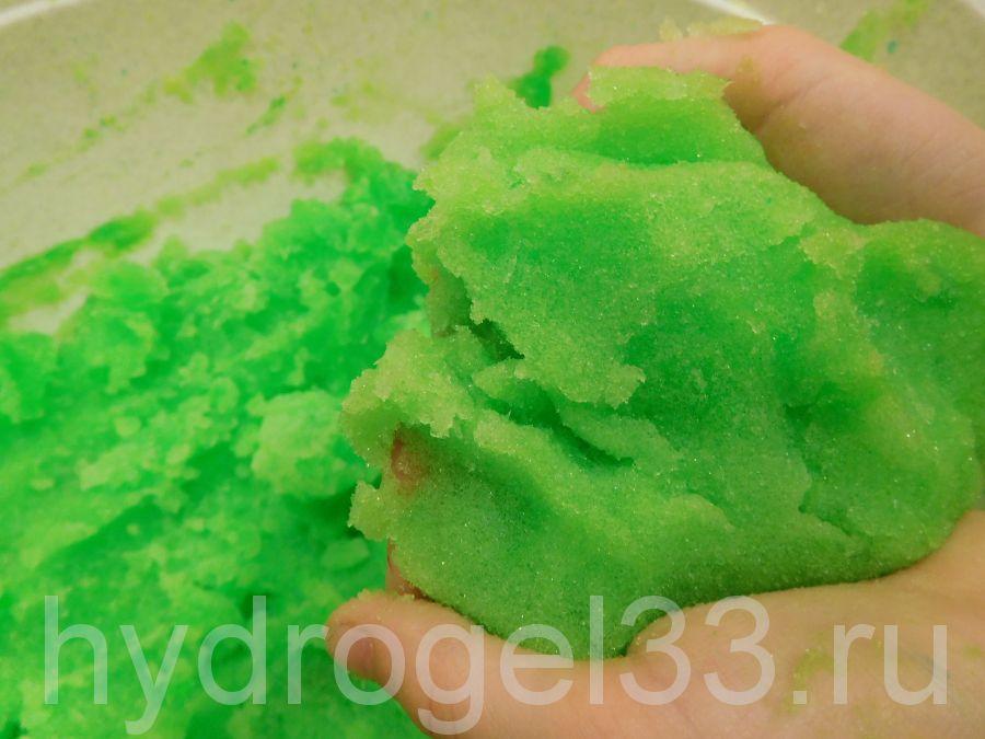 Гидрогель для лепки зеленый (8л)