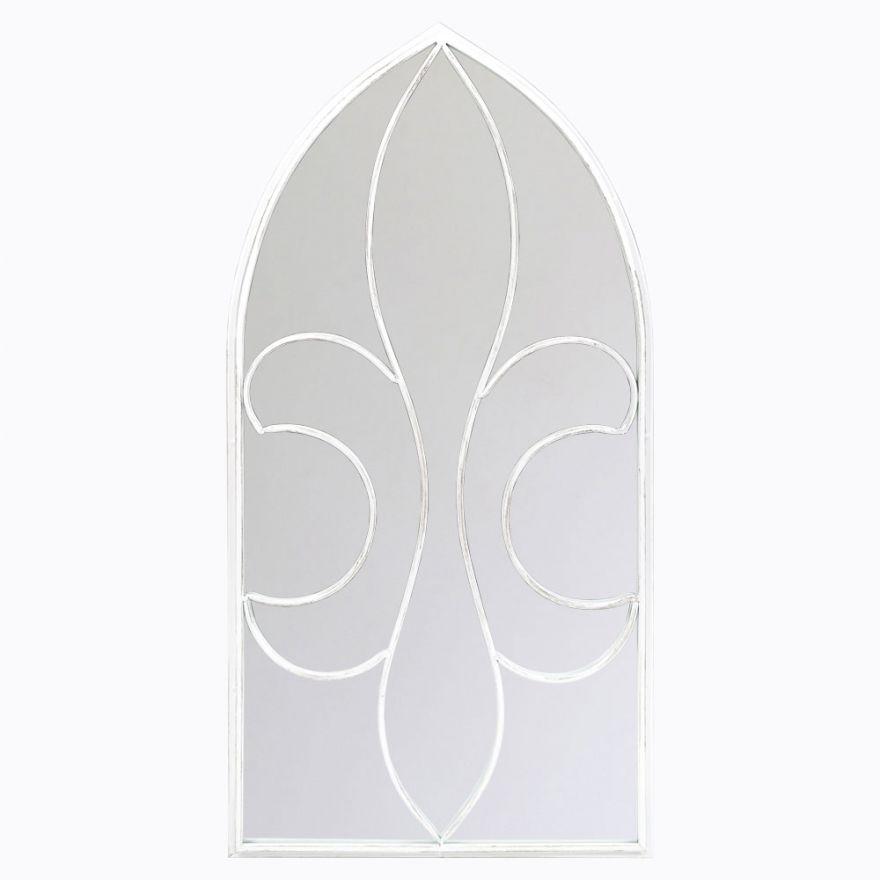 Настенное зеркало Флореаль (белый антик)