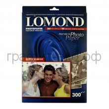 Фотобумага А4 Super GLOSSY 300 20л.Lomond 1109100