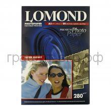 Фотобумага А3 Super GLOSSY 280 20л.одн.Lomond 1104102