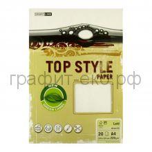 Бумага А4 Smart Line Top Style laid white белая 220г/м 20л 3241/812