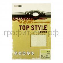Бумага А4 Smart Line Top Style linear ivory слоновая кость 250г/м 20л 3251