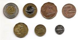 Фауна Набор монет Остров Пасхи 2007 (7 монет)