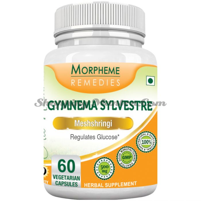 Джимнема сильвестра в капсулах (500мг) Морфем | Morpheme Remedies Gymnema Sylvestre Capsules