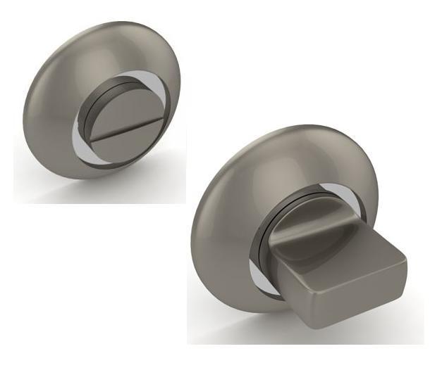 Поворотная ручка ВК6 RM SN-CP Матовый никель-хром