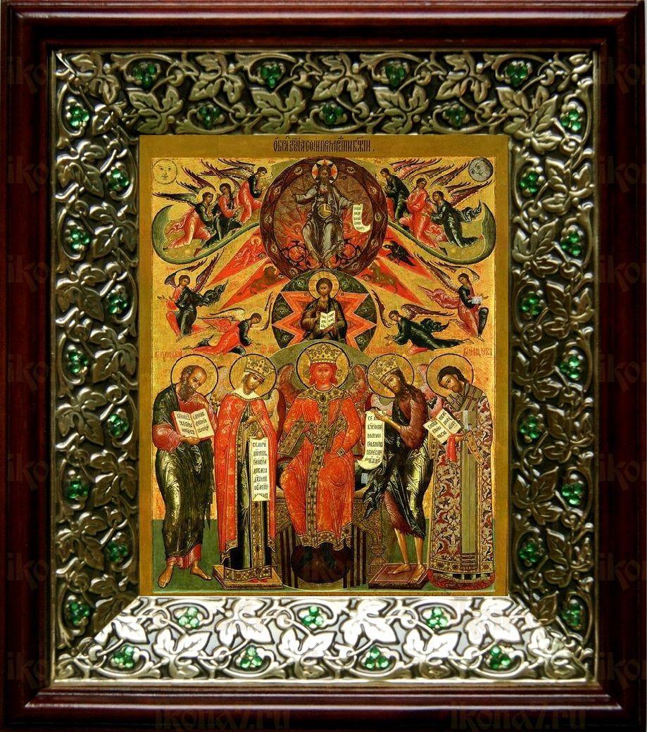София-Премудрость Божия (Новгородская) (21х24), киот со стразами