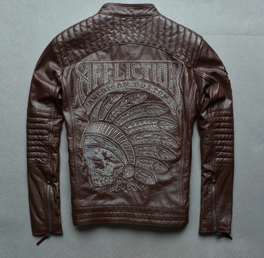 Мотокуртка Affliction American Castoms Brown
