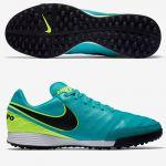 Шиповки-сороконожки Nike Tiempo Mystic V TF бирюзовые