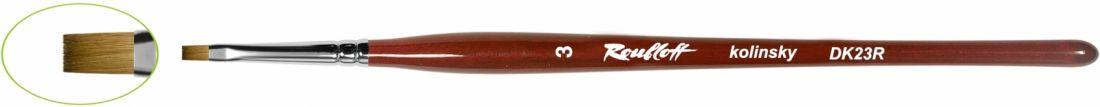 DK23R - Кисть плоская из волоса колонка №3