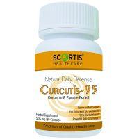 Куркутис 95 (куркумин & пиперин экстракт) в капсулах (505мг) Скортис | Scortis Healthcare Curcutis-95 (Curcumin & Piperine) Capsules